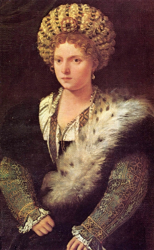 Portrait of Isabella d'Este Gonzaga of Mantua by Titian
